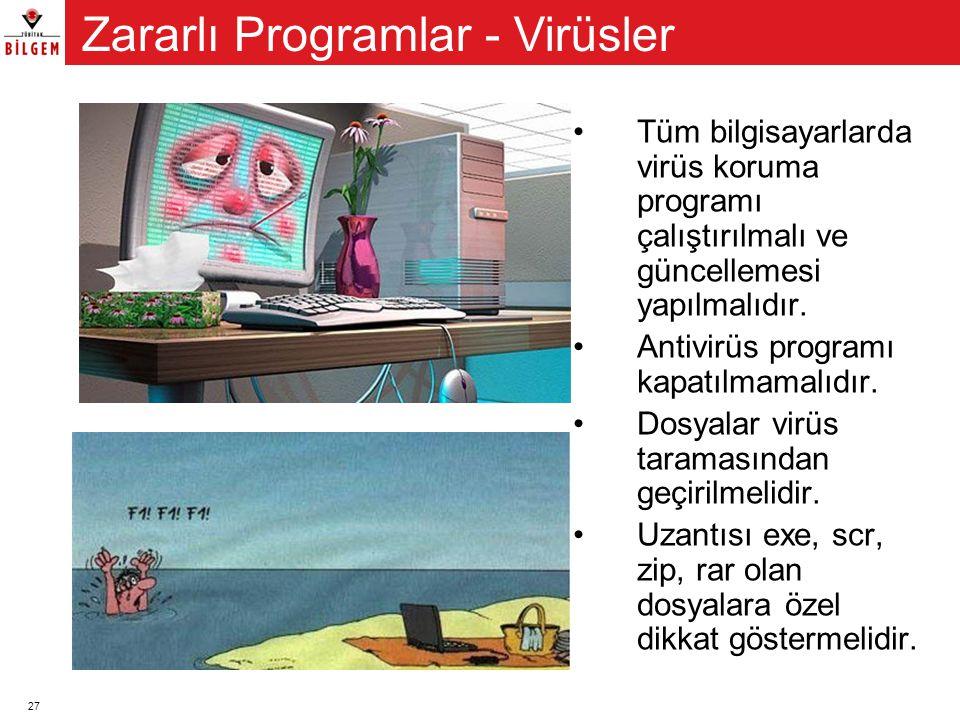 Zararlı Programlar - Virüsler
