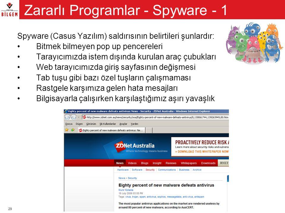Zararlı Programlar - Spyware - 1