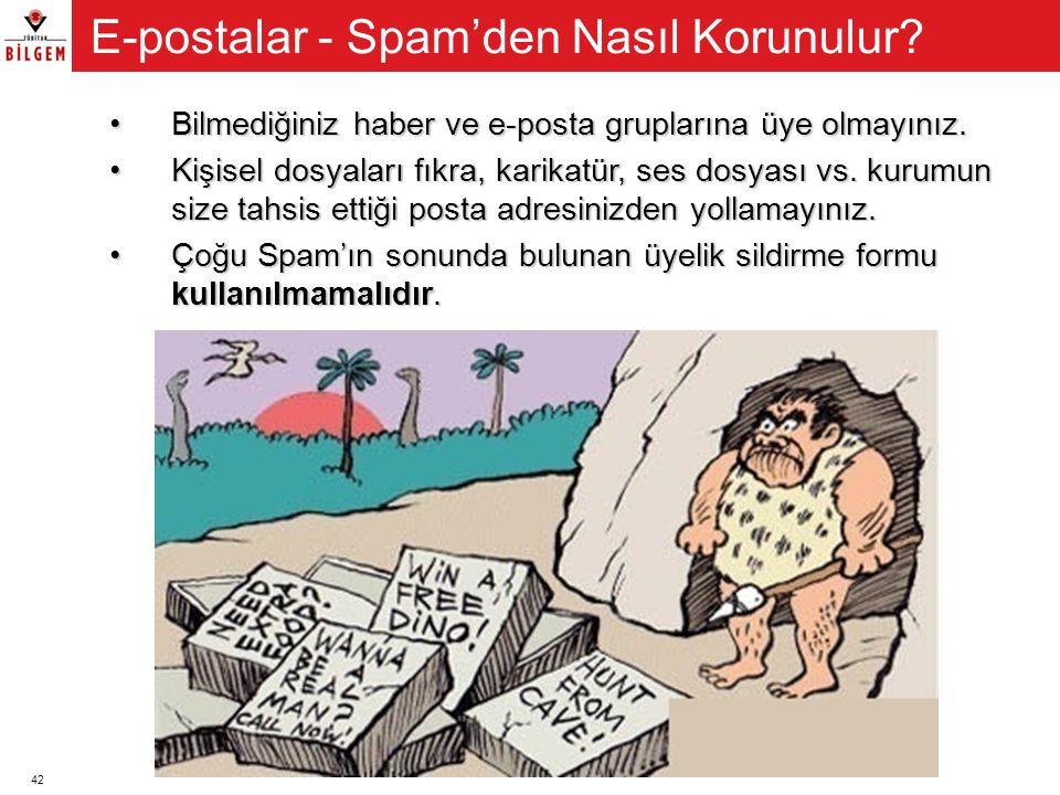 E-postalar - Spam'den Nasıl Korunulur