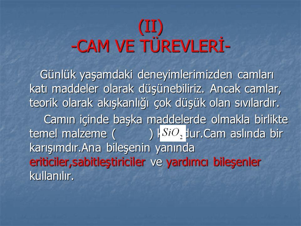 (II) -CAM VE TÜREVLERİ-