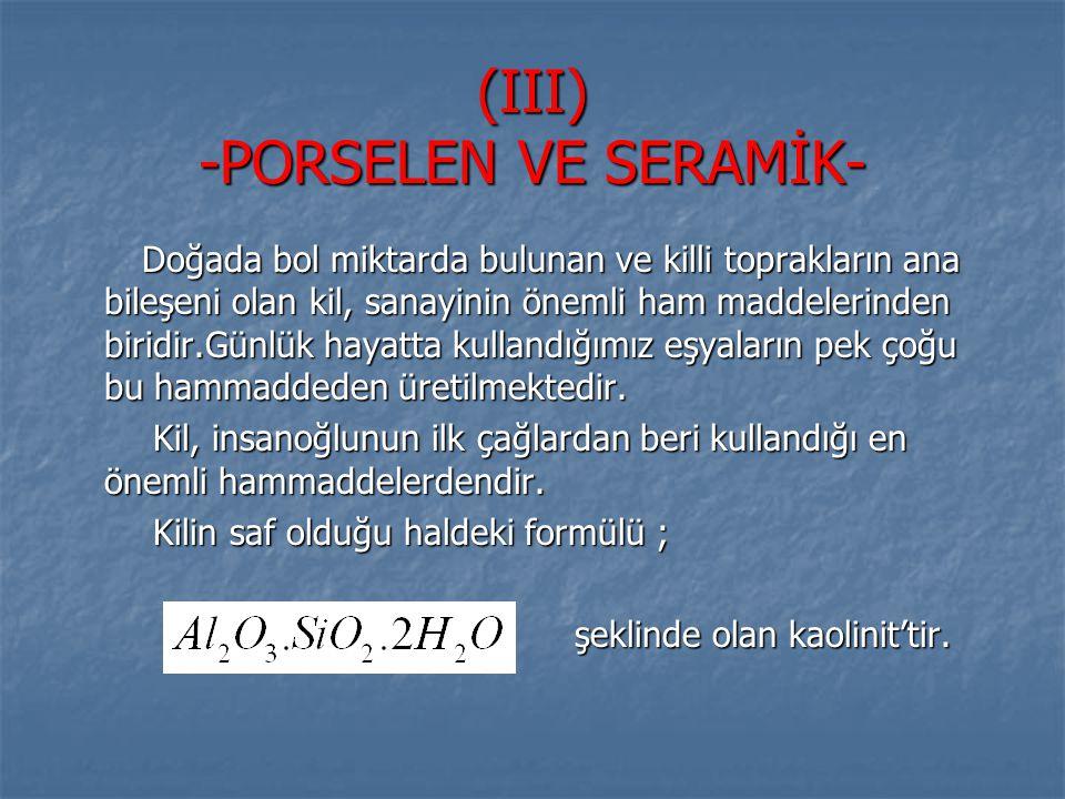 (III) -PORSELEN VE SERAMİK-