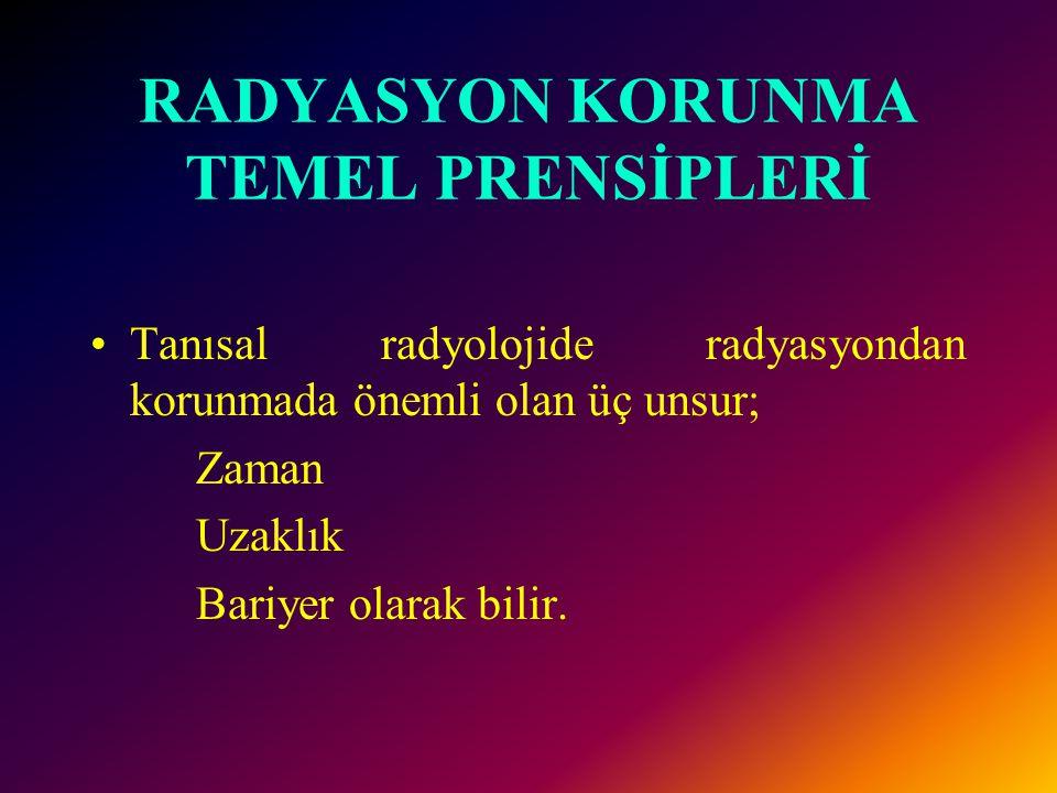 RADYASYON KORUNMA TEMEL PRENSİPLERİ