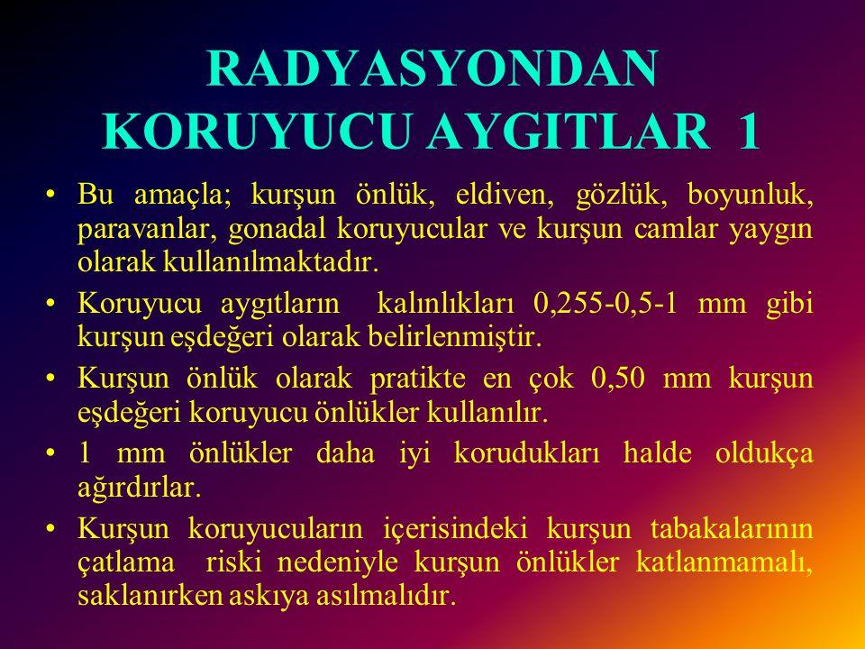 RADYASYONDAN KORUYUCU AYGITLAR 1
