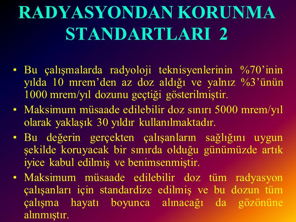 RADYASYONDAN KORUNMA STANDARTLARI 2
