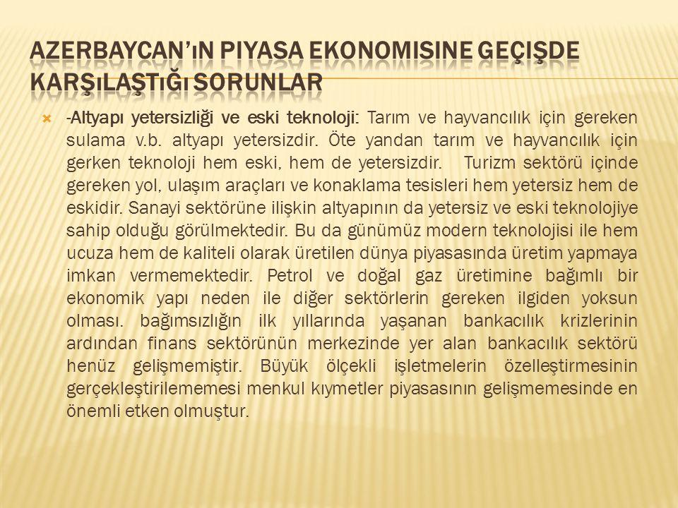 Azerbaycan'ın Piyasa Ekonomisine Geçişde Karşılaştığı Sorunlar