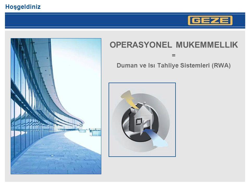 OPERASYONEL MUKEMMELLIK = Duman ve Isı Tahliye Sistemleri (RWA)