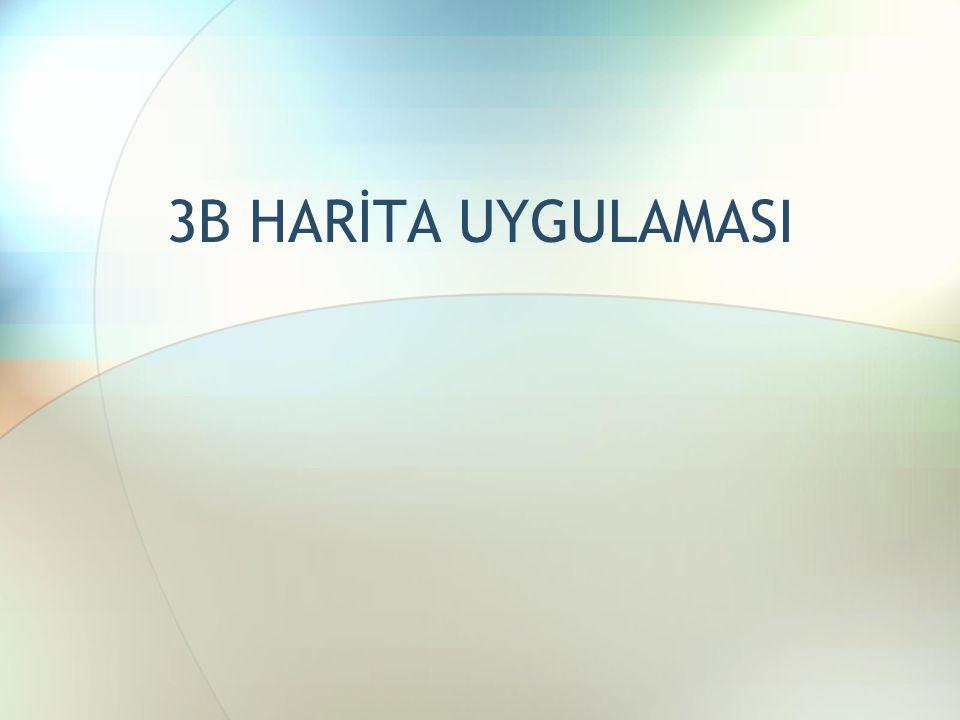 3B HARİTA UYGULAMASI