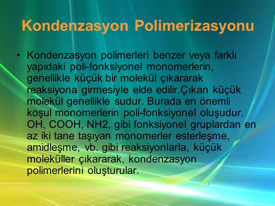 Kondenzasyon Polimerizasyonu