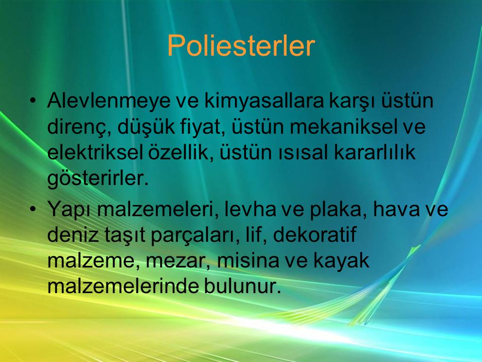 Poliesterler