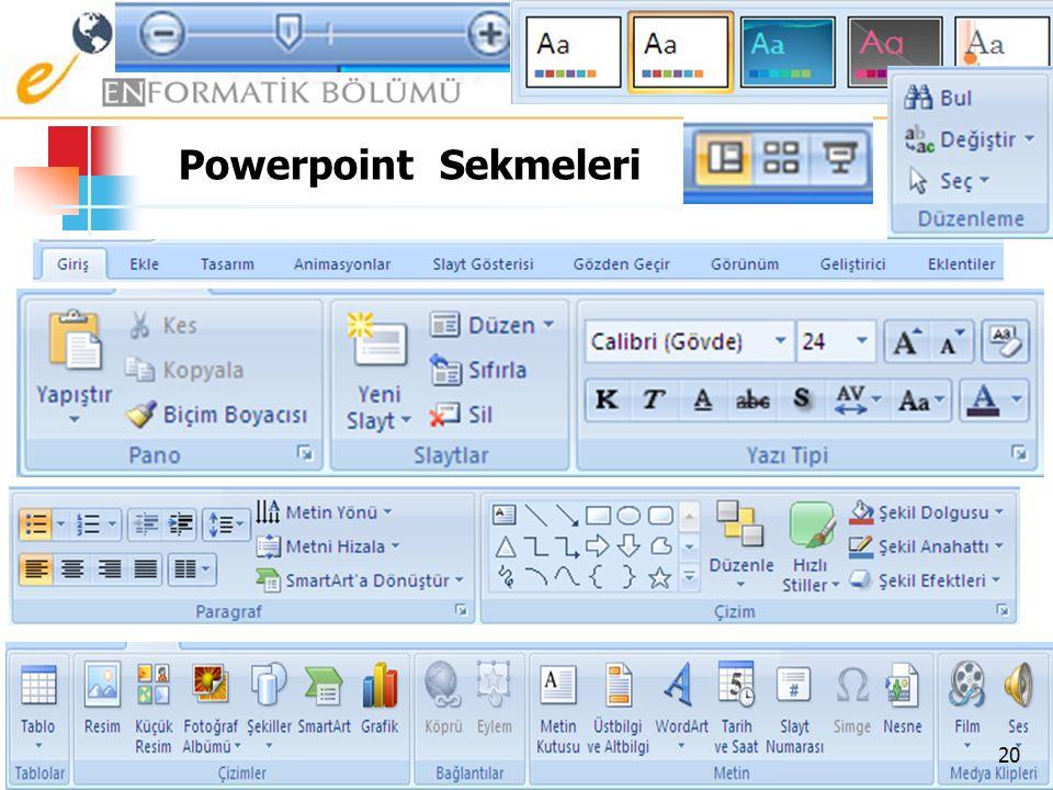 Powerpoint Sekmeleri