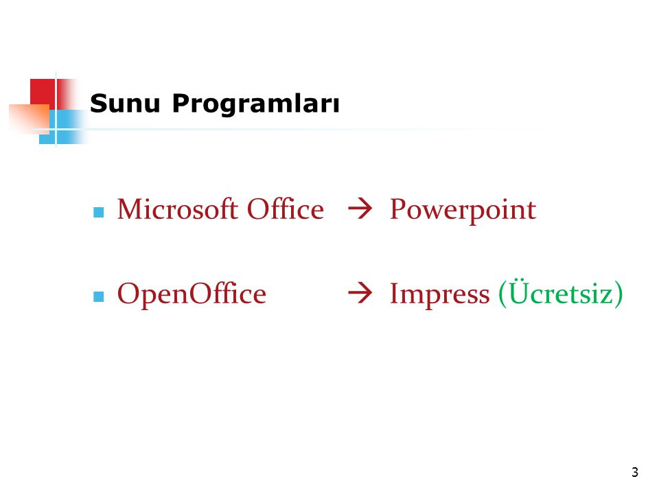 Microsoft Office  Powerpoint OpenOffice  Impress (Ücretsiz)