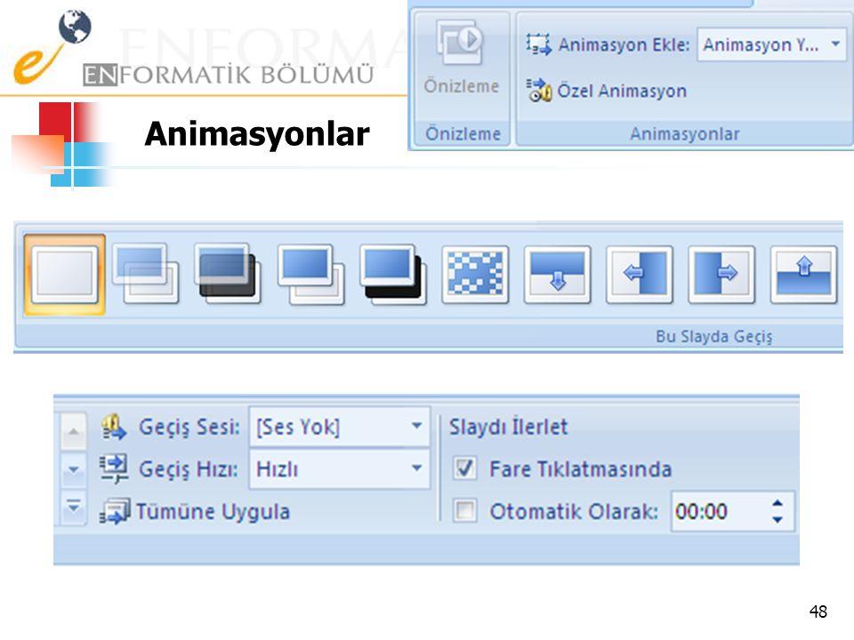Animasyonlar