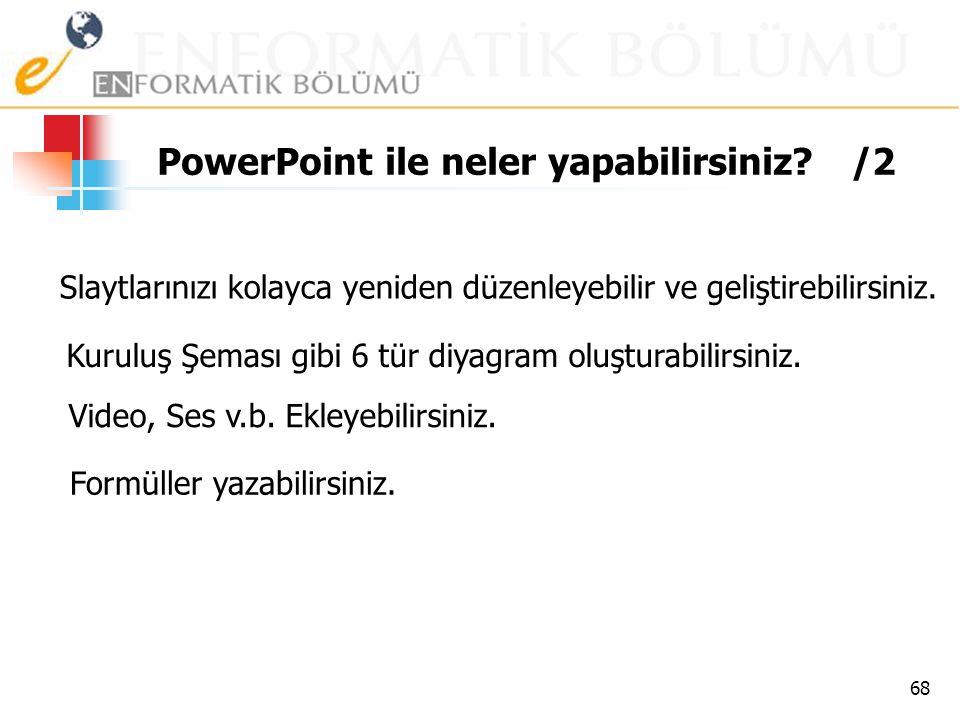 PowerPoint ile neler yapabilirsiniz /2