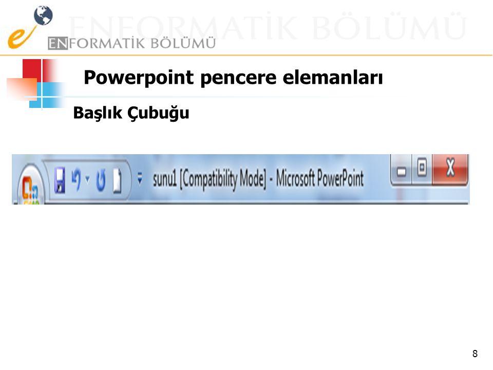 Powerpoint pencere elemanları
