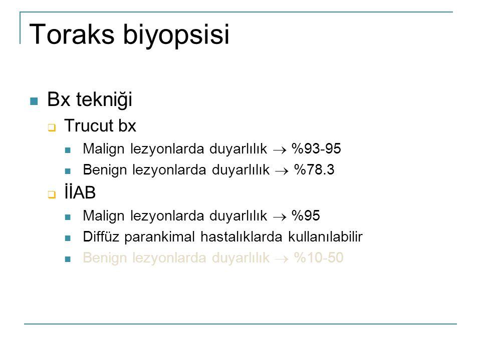 Toraks biyopsisi Bx tekniği Trucut bx İİAB