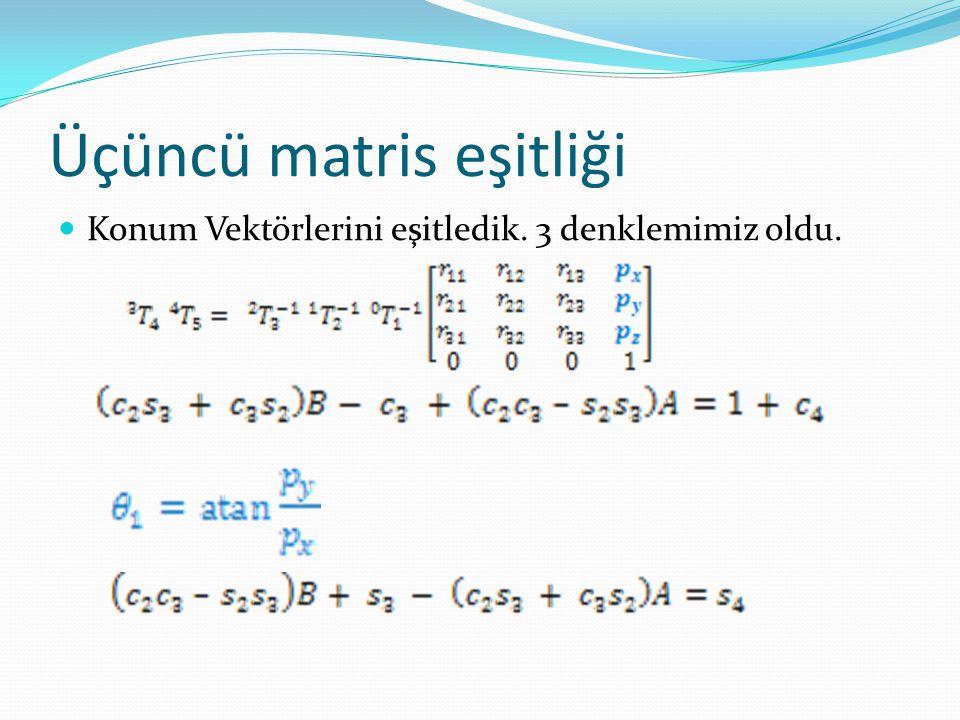 Üçüncü matris eşitliği