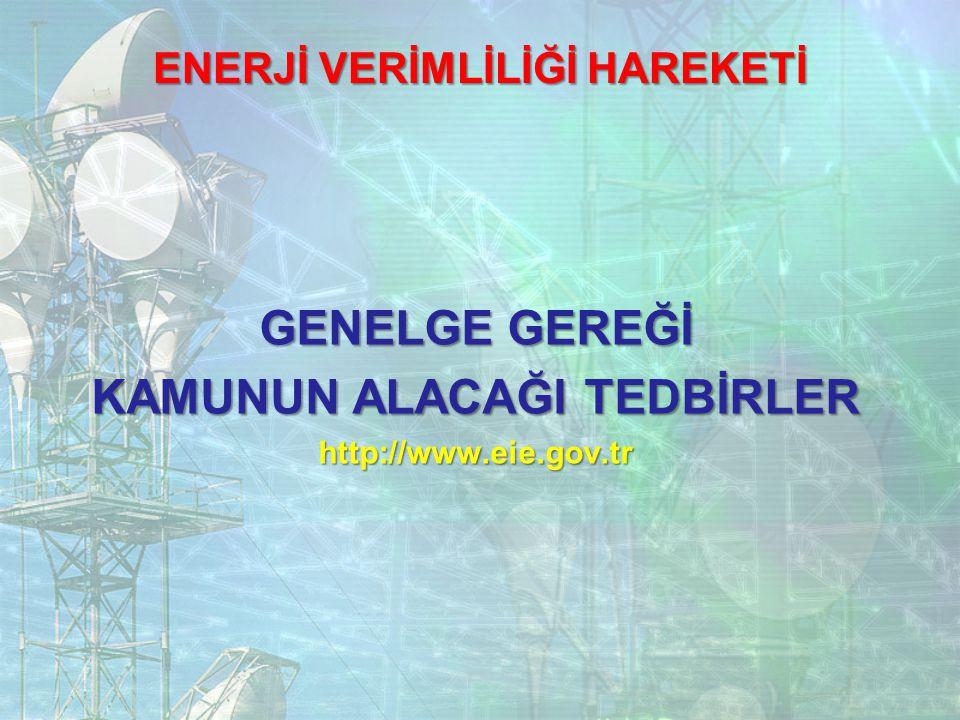 GENELGE GEREĞİ KAMUNUN ALACAĞI TEDBİRLER http://www.eie.gov.tr