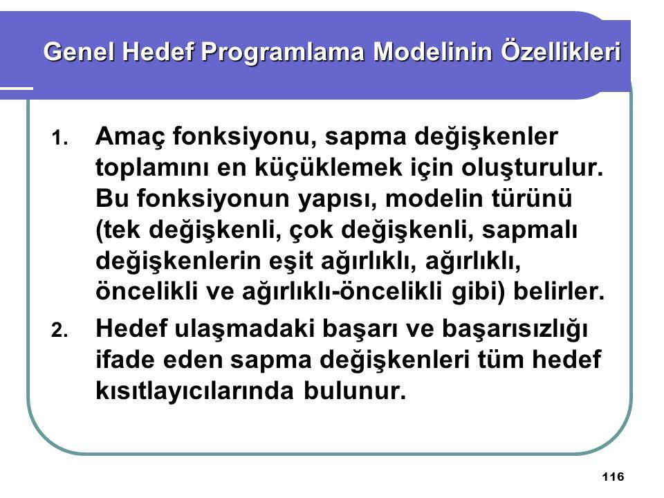 Genel Hedef Programlama Modelinin Özellikleri