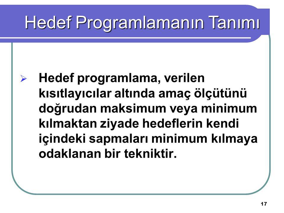 Hedef Programlamanın Tanımı