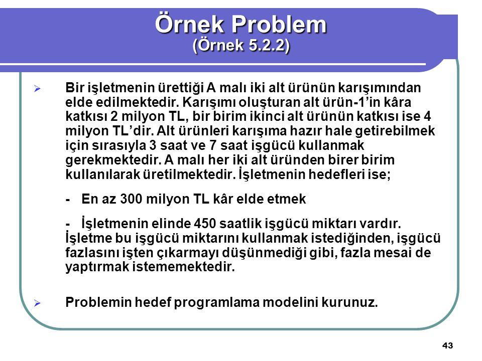 Örnek Problem (Örnek 5.2.2)
