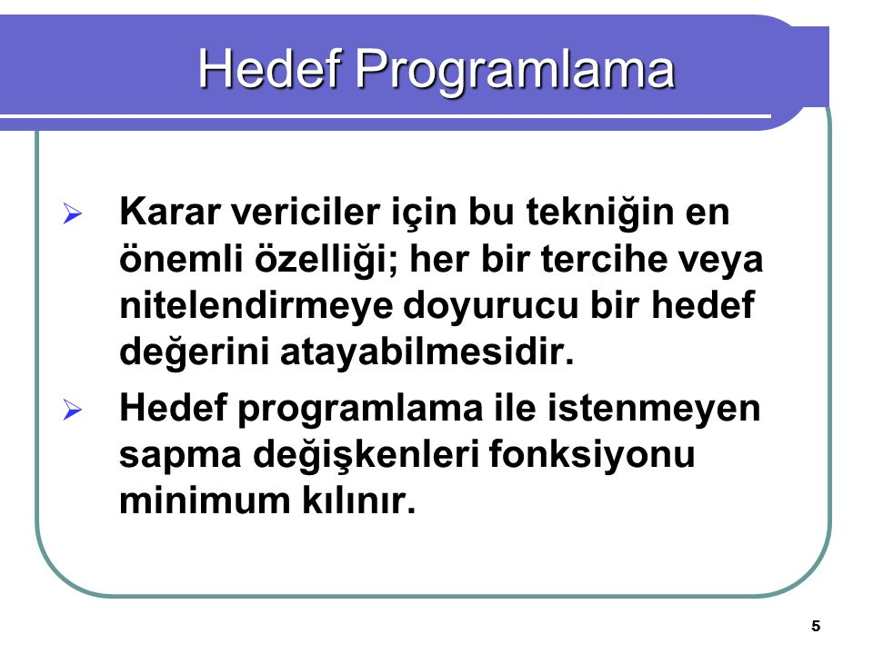 Hedef Programlama