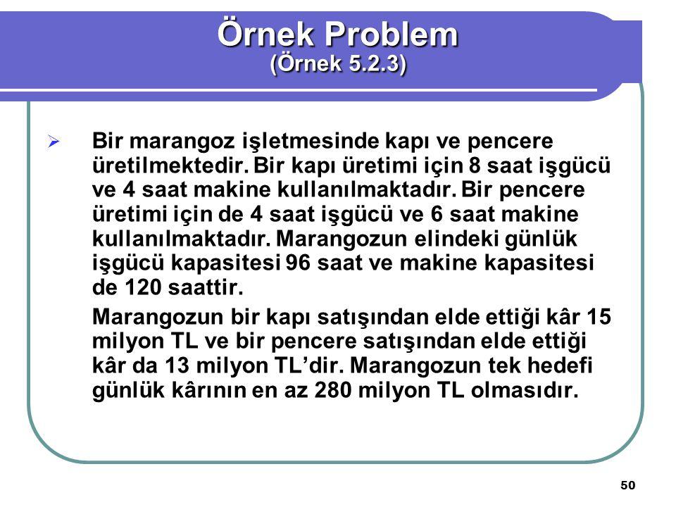 Örnek Problem (Örnek 5.2.3)