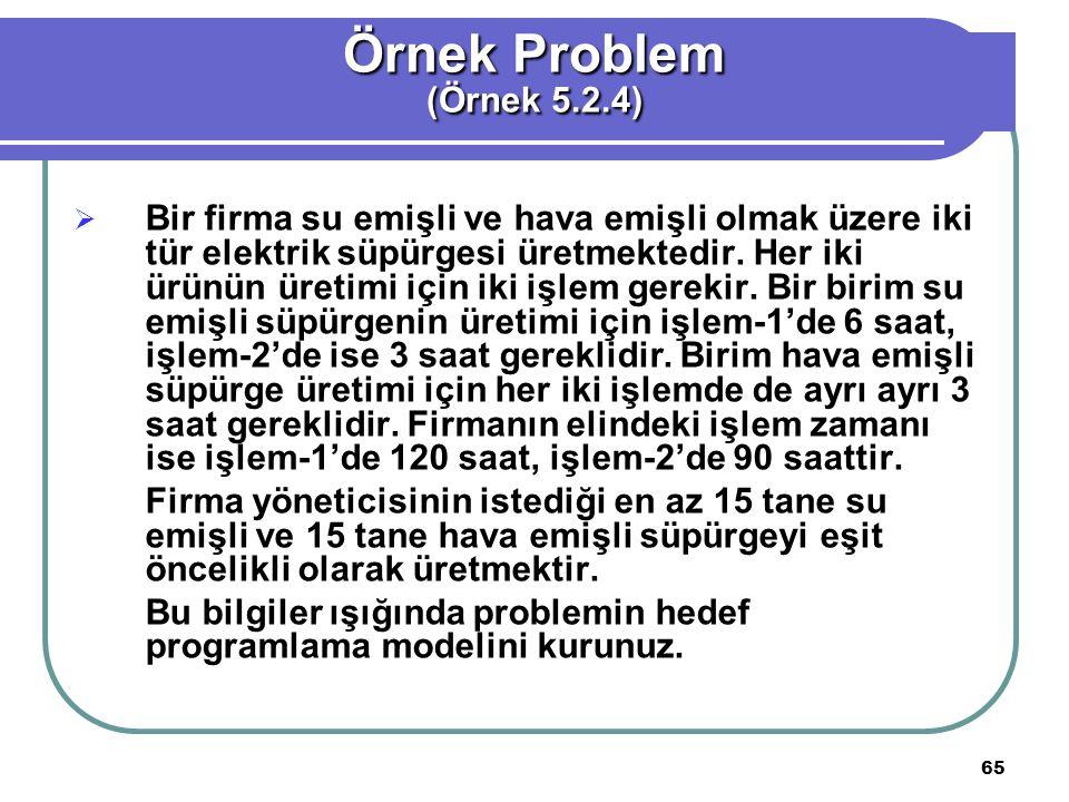 Örnek Problem (Örnek 5.2.4)