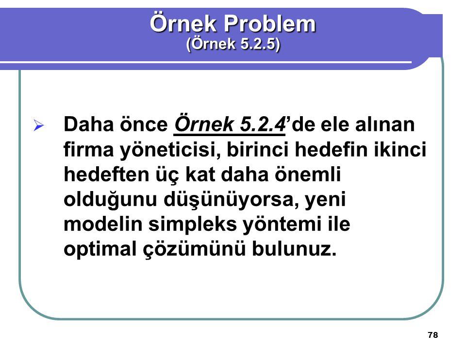 Örnek Problem (Örnek 5.2.5)