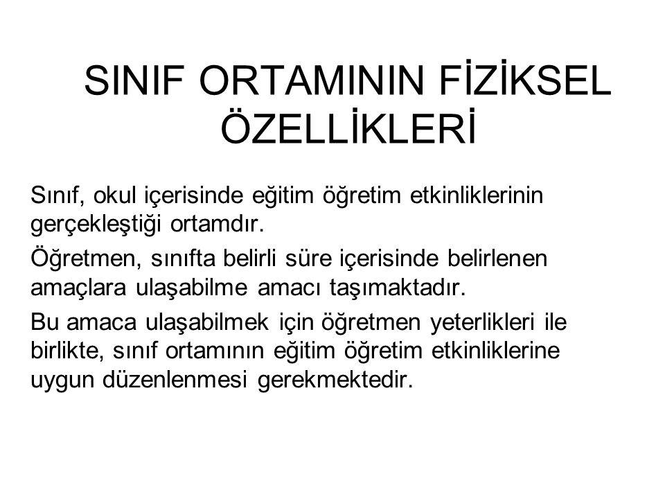 SINIF ORTAMININ FİZİKSEL ÖZELLİKLERİ