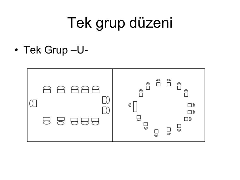Tek grup düzeni Tek Grup –U-