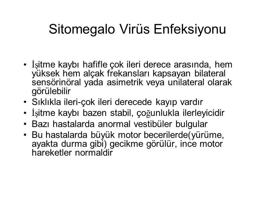 Sitomegalo Virüs Enfeksiyonu