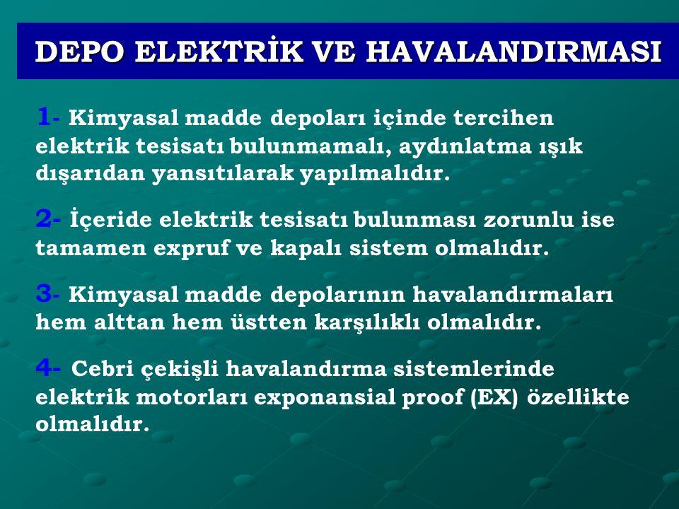DEPO ELEKTRİK VE HAVALANDIRMASI