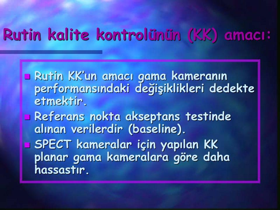 Rutin kalite kontrolünün (KK) amacı: