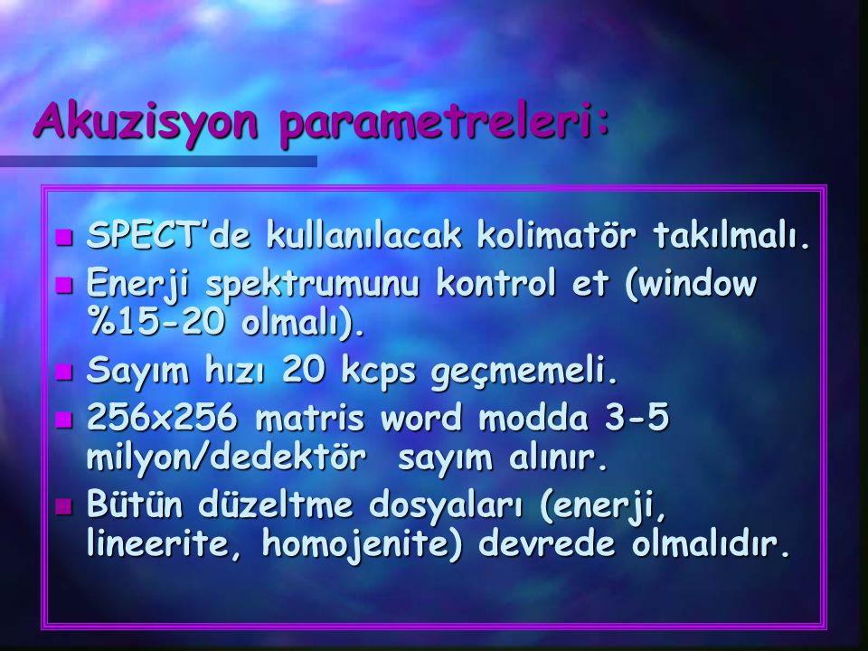 Akuzisyon parametreleri: