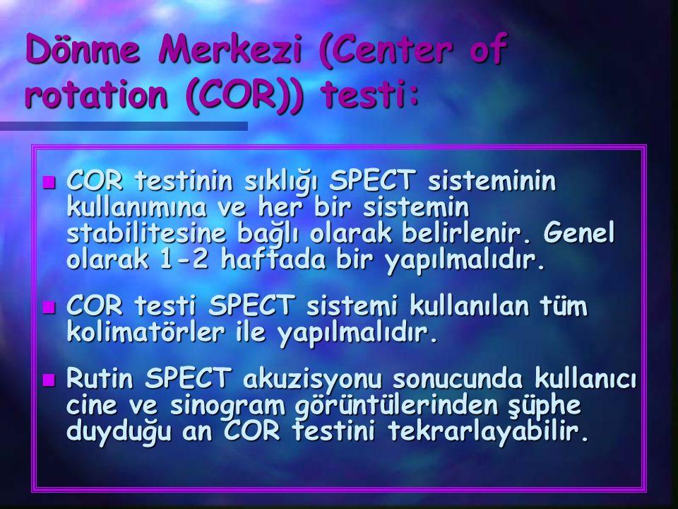 Dönme Merkezi (Center of rotation (COR)) testi: