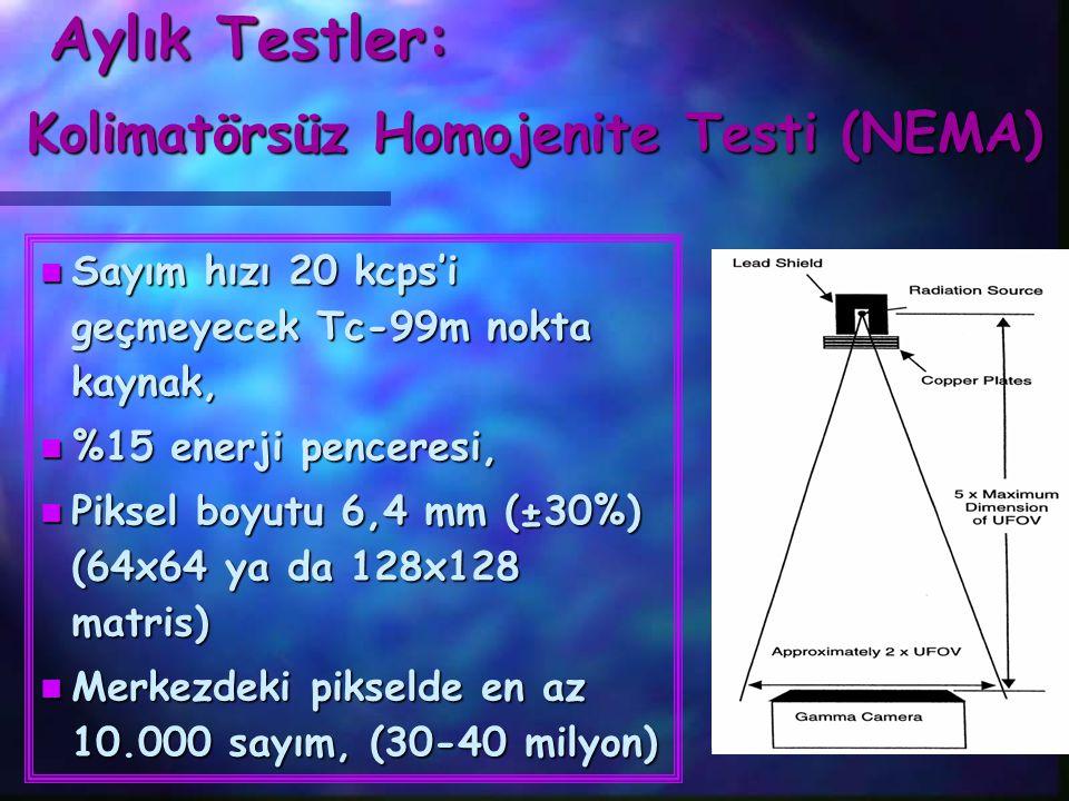 Kolimatörsüz Homojenite Testi (NEMA)