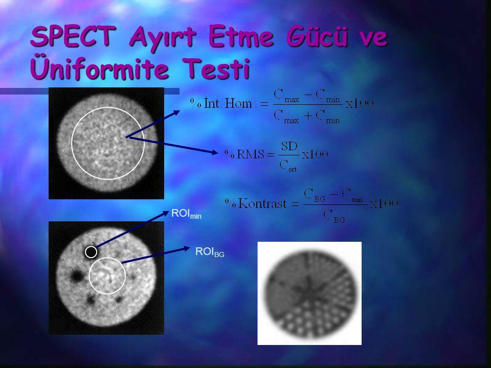 SPECT Ayırt Etme Gücü ve Üniformite Testi