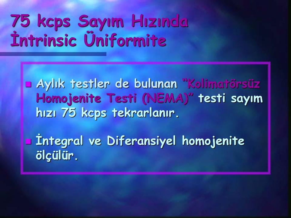 75 kcps Sayım Hızında İntrinsic Üniformite