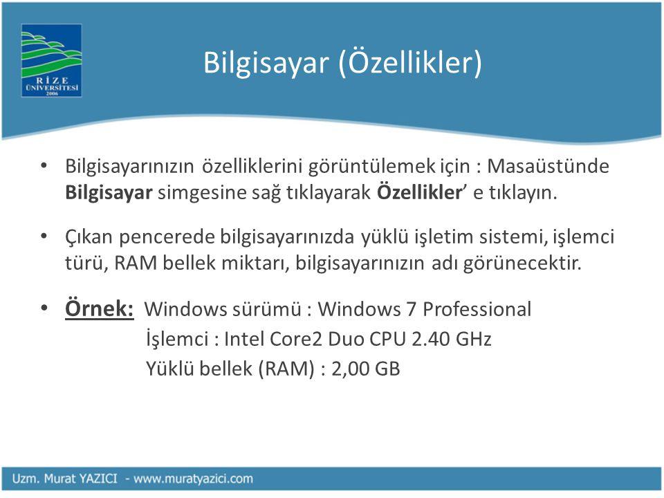 Bilgisayar (Özellikler)