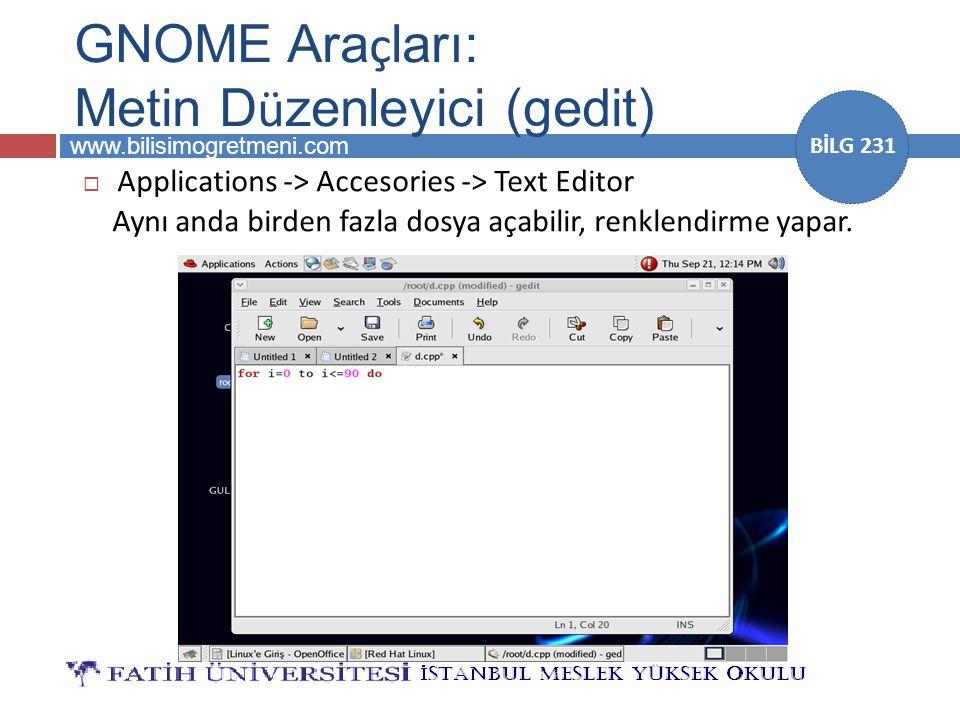 GNOME Araçları: Metin Düzenleyici (gedit)