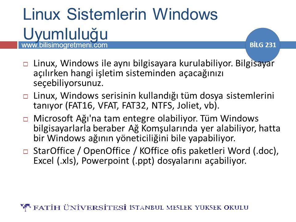 Linux Sistemlerin Windows Uyumluluğu