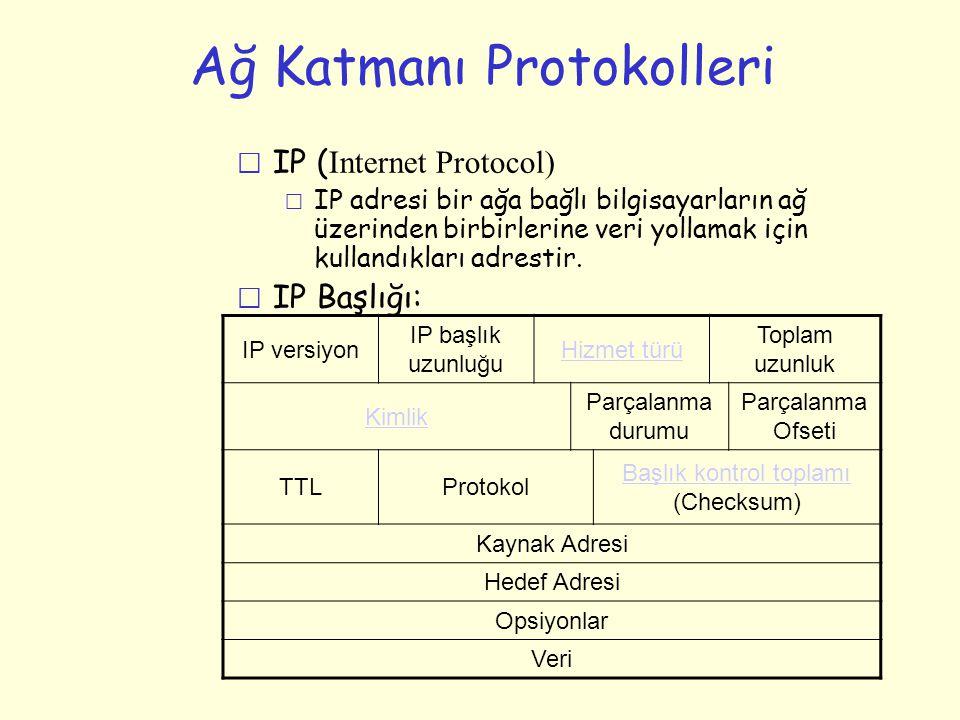 Ağ Katmanı Protokolleri