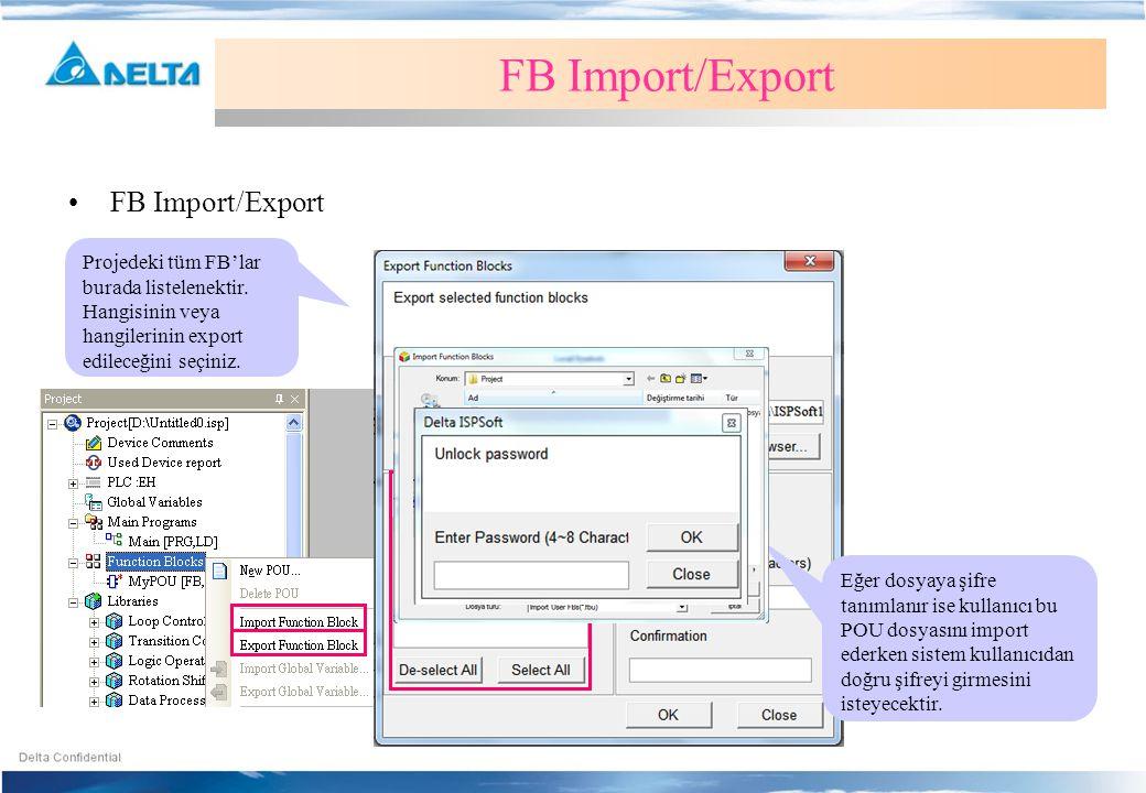 FB Import/Export FB Import/Export