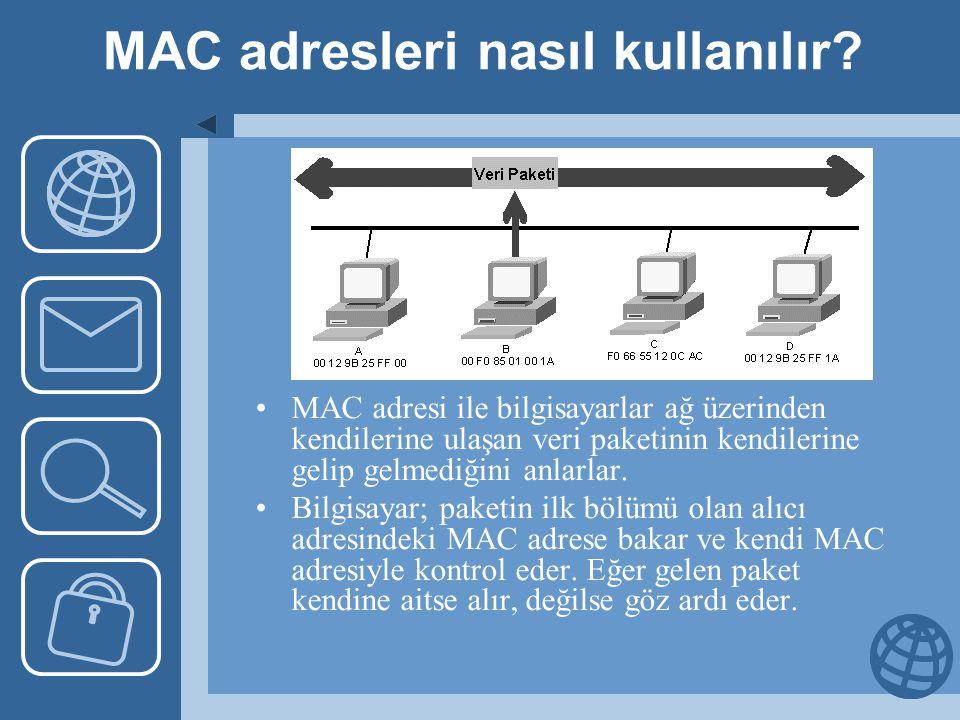 MAC adresleri nasıl kullanılır