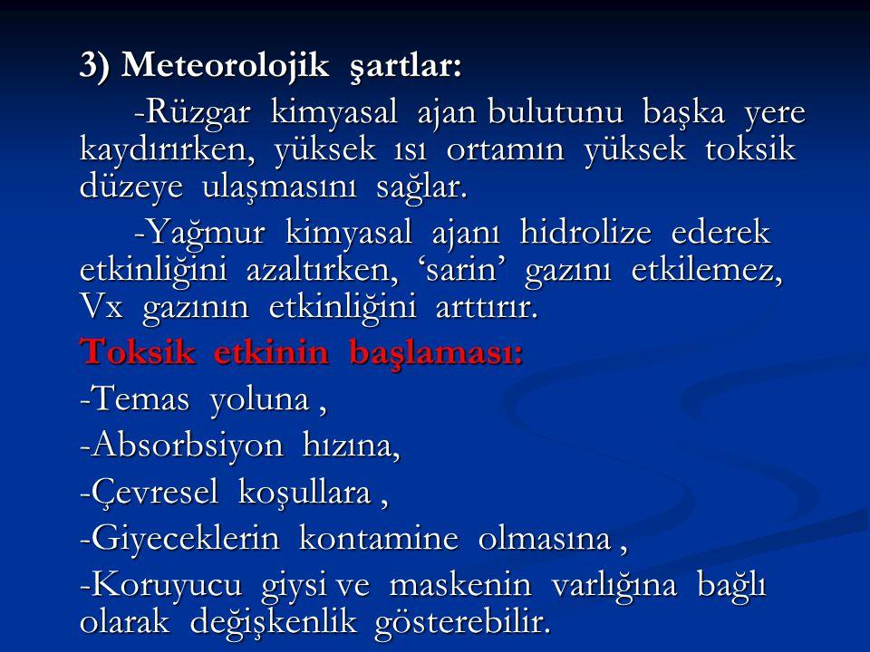 3) Meteorolojik şartlar: