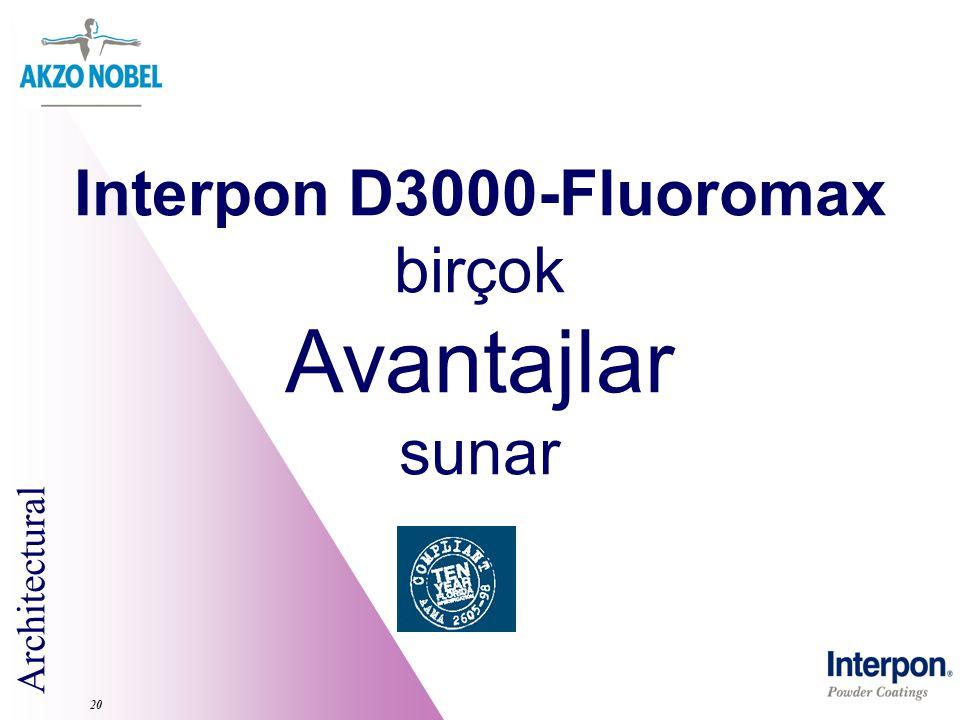 Interpon D3000-Fluoromax birçok Avantajlar sunar 20