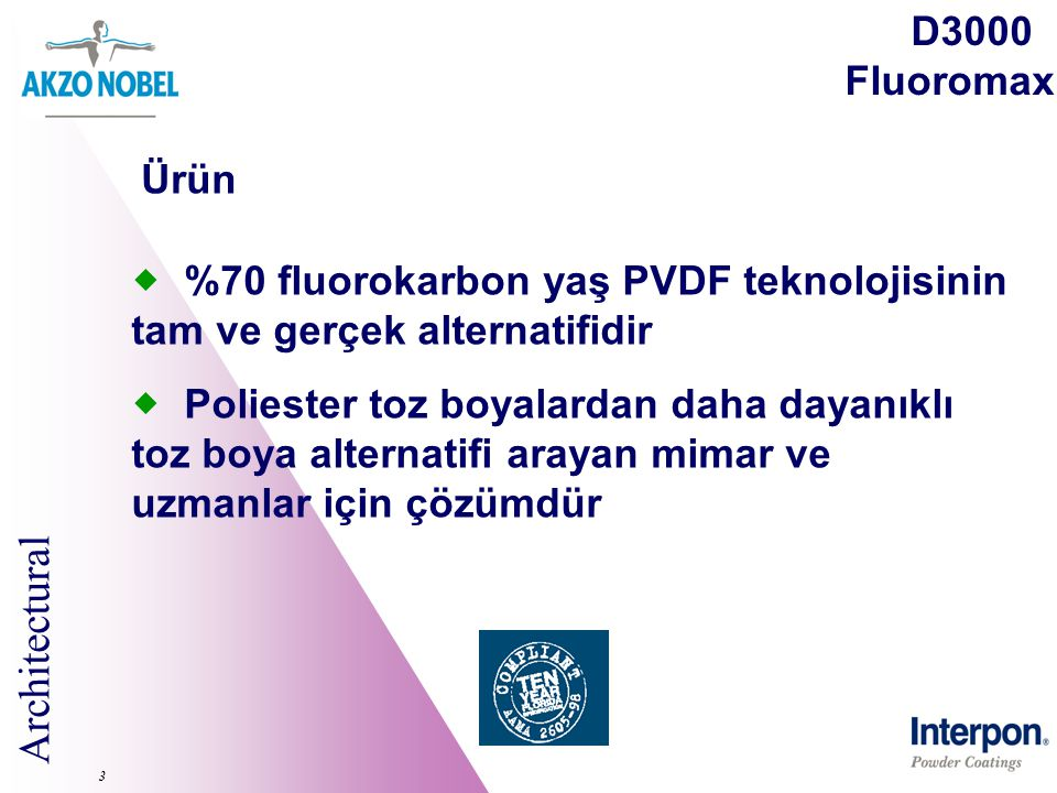 %70 fluorokarbon yaş PVDF teknolojisinin tam ve gerçek alternatifidir