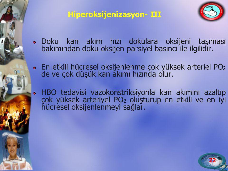 Hiperoksijenizasyon- III