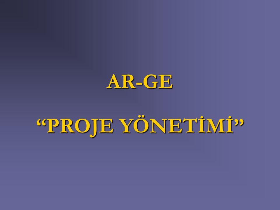 AR-GE PROJE YÖNETİMİ
