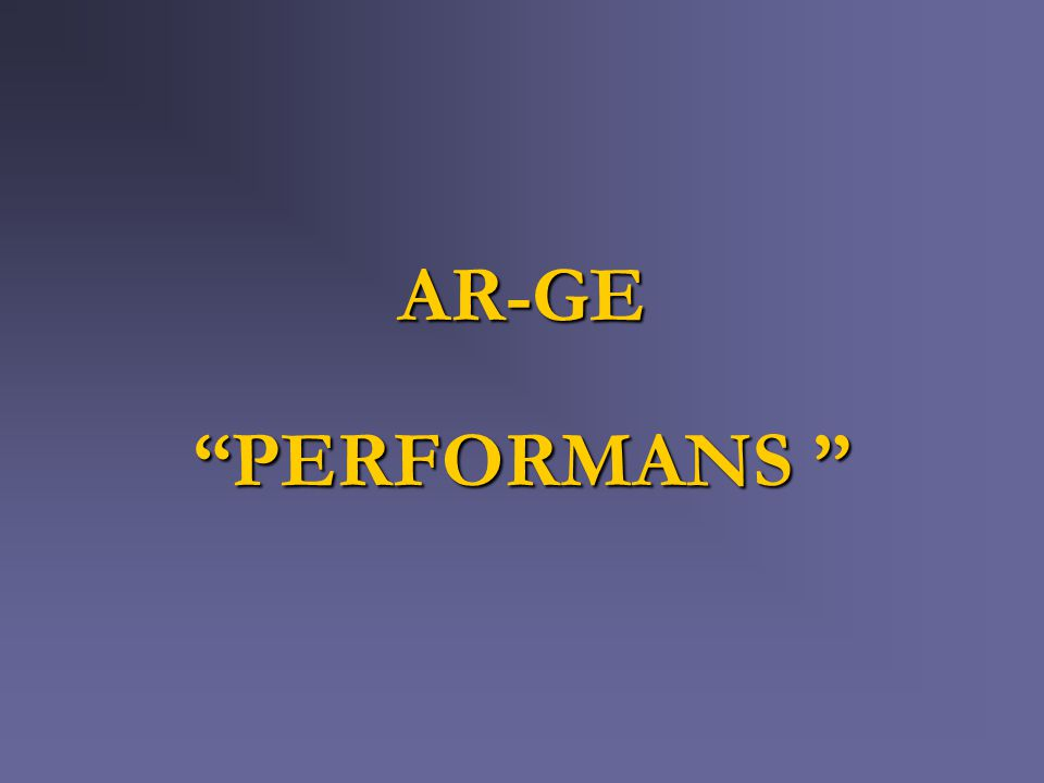 AR-GE PERFORMANS